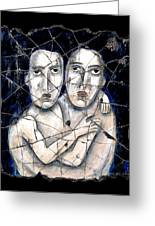 Two Souls Greeting Card by Steve Bogdanoff