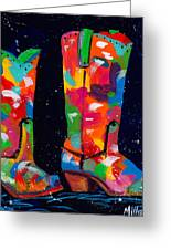 Two Step Greeting Card by Tracy Miller