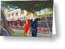 Two To Tango Greeting Card by Judy Kay