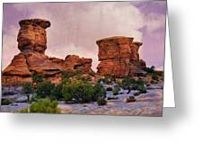 Two Towers Greeting Card by Marty Koch