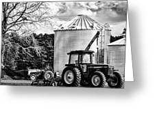 Two Tractors Greeting Card by Kelly Reber
