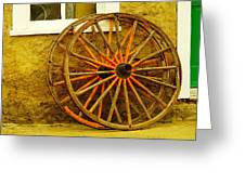 Two Wagon Wheels Greeting Card by Jeff  Swan
