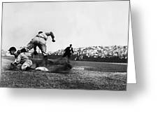 Ty Cobb Famous Slide Greeting Card by Retro Images Archive