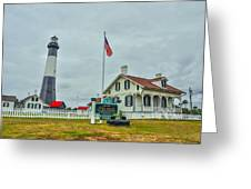 Tybee Island Lighthouse Greeting Card by Donnie Smith