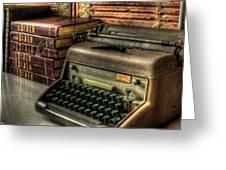 Typewriter Greeting Card by David Morefield