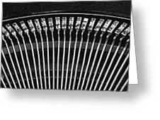 Typewriter Keys III Greeting Card by Tom Mc Nemar