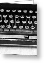 Typewriter Triptych Part 2 Greeting Card by Edward Fielding