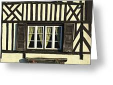 Typical House  Half-timbered In Normandy. France. Europe Greeting Card by Bernard Jaubert