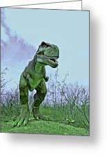 Tyrannosaurus Rex  T- Rex Greeting Card by Allen Beatty