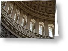U S Capitol Dome Greeting Card by Steve Gadomski