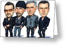 U2 Greeting Card by Art