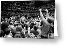 U2-crowd-gp13 Greeting Card by Timothy Bischoff