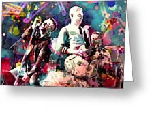 U2 Greeting Card by Rosalina Atanasova