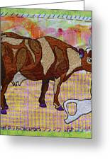 Udder Freedom Greeting Card by Susan Sorrell