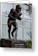 Uf Heisman Winner Tim Tebow  Greeting Card by Lynn Palmer