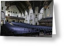 Uf University Auditorium Interior And Seating Greeting Card by Lynn Palmer
