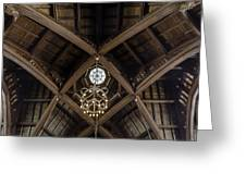 Uf University Auditorium Vaulted Wooden Arches Greeting Card by Lynn Palmer