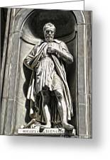 Uffizi Gallery - Michelangelo Buonarroti Greeting Card by Gregory Dyer