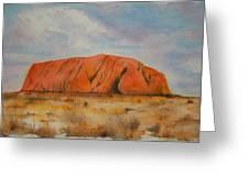 Uluru Greeting Card by Lyndsey Hatchwell