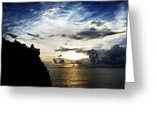 Uluwatu Temple Greeting Card by Yew Kwang