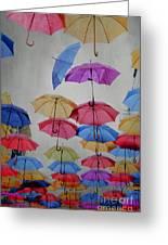 Umbrellas Greeting Card by Jelena Jovanovic