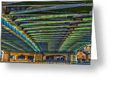 Under Hennepin Avenue Bridge Greeting Card by Bill Tiepelman