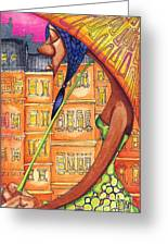 Under My Umbarella Greeting Card by Levi Robinson aka Snoop