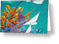Under the Bahamian Sea Greeting Card by Daniel Jean-Baptiste