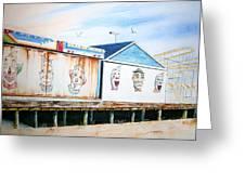 Under The Boardwalk Greeting Card by Brian Degnon