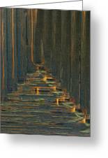 Under The Boardwalk Greeting Card by Jack Zulli
