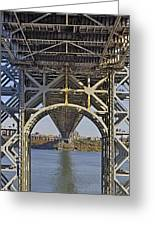 Under The George Washington Bridge I Greeting Card by Susan Candelario