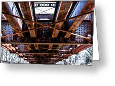 Under The Muncie Bridge Greeting Card by Chris McCown