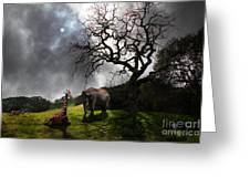 Under The Old Oak Tree - 5d21097 - Horizontal Greeting Card by Wingsdomain Art and Photography