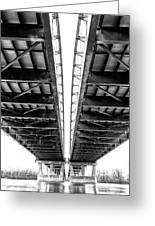 Under The Page Bridge Greeting Card by Bill Tiepelman