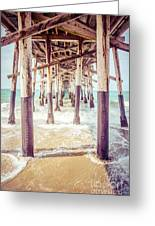 Under The Pier In Southern California Picture Greeting Card by Paul Velgos