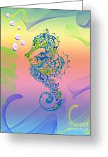 Under The Sea Horse Greeting Card by Cheryl Young