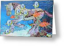 Under The Sea Iv Greeting Card by Betsy A  Cutler