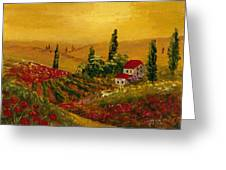 Under The Tuscan Sun Greeting Card by Darice Machel McGuire