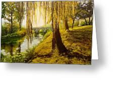 Under The Willow Greeting Card by Svetla Dimitrova