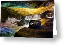 Underground Waterfall 2 Greeting Card by Mark Papke