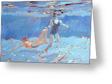 Underwater  Greeting Card by Sarah Butterfield