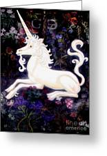 Unicorn Floral Greeting Card by Genevieve Esson