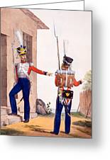 Uniform Of The 8th Infantry Regiment Greeting Card by Charles Aubry