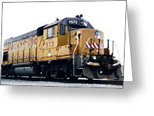 Union Pacific Yard Master Greeting Card by Steven Milner