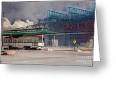 Union Station - Backside - Oil Painting Greeting Card by Liane Wright