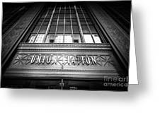 Union Station Chicago In Black And White Greeting Card by Paul Velgos