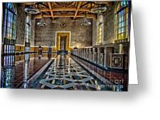 Union Station Interior- Los Angeles Greeting Card by David Doucot