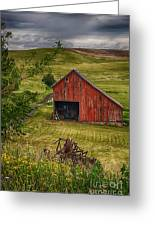 Unique Barn In The Palouse Greeting Card by Priscilla Burgers