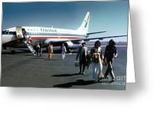United Airlines Ual Boeing 737-222 N9069u April 1974 Greeting Card by Wernher Krutein