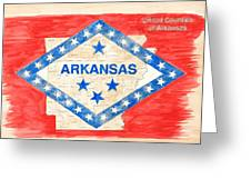 United Counties Of Arkansas Greeting Card by Egil Viesturson